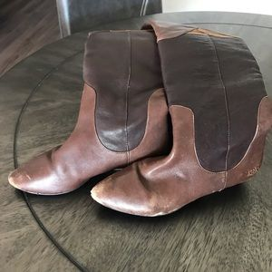 Lucky Brand Shoes - Leather Riding Boots